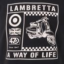 LAMBRETTA Men's Mod Two Tone Scooter Graphic Tee
