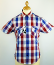 Graph Block Check LAMBRETTA Retro Mod Shirt (B)