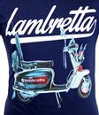 LAMBRETTA Retro 60s Mod Jimmy Scooter T-Shirt NAVY