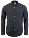 lee subtle check button down shirt black