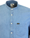LEE Retro 60s Band Collar Denim Grandad Shirt