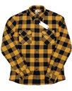 LEE Retro Block Check Brushed Cotton Western Shirt