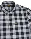 LEE Retro Mod Block Check Button Down Shirt BLACK