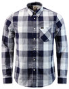 lee jeans retro mod block check button down shirt