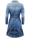 LEE Retro 70s Collared High Stake Blue Denim Dress