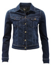 LEE Womens 70s Slim Rider Denim Jacket MEAN STREAK