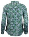 LEE Retro 70s Tropical Palm Print Chambray Shirt