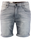 lee slim fit denim shorts grey