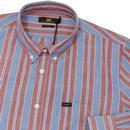 LEE Retro Mod Button Down Multi Stripe Shirt (DB)