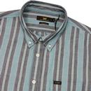 LEE Retro Mod Button Down Multi Stripe Shirt (FG)