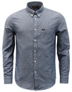 lee button down shirt medieval blue mod