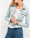 lee slim rider womens retro 70s denim jacket chaos