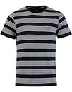 Lee Block Stripe cew neck t-shirt black
