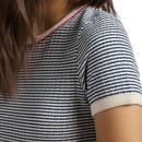 LEE JEANS Womens Stripe Ribbed Slim Fit Tee WB