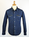 LEE JEANS RETRO DENIM SHIRT DARK STONEWASH 70S