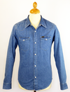 LEE JEANS RETRO DENIM SHIRT LIGHT STONEWASH 70S