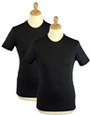 LEE JEANS TWIN PACK T-SHIRTS BLACK RETRO T-SHIRTS