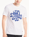 Levi's Retro 60s Hippy Logo T-Shirt White