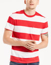 Levi's Retro 60s Wide Stripe T-Shirt Red