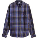 levis mens sunset chest pocket checked long sleeve shirt azriel golden yellow