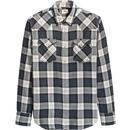 Levi's Barstow Men's Retro Check Western Shirt in Red Cast Rinse