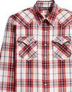 LEVI'S Barstow Check Western Shirt WILDCAT CRIMSON