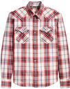 levis barstow check western shirt wildcat crimson