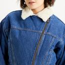 LEVI'S Women's Denim Cocoon Bomber Jacket in Blue