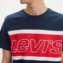 LEVI'S Retro Cut & Sew Colour Block Logo Tee DB/R