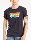 Levi's Retro 70s colourful Batwing Logo Tee Black