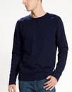 Levi's retro mod indie crew neck sweater navy