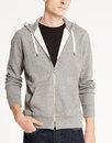 Levi's retro mod 70s zip hoodie grey