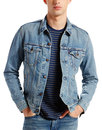 levis retro 60s mod denim trucker jacket icey blue