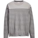 levis mission retro mod ls breton stripe tee grey
