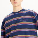 LEVI'S Oversized Indie Stripe Crew/Mock Sweatshirt
