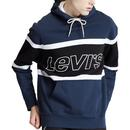 Levi's Retro 1990s Colour Block Hooded Sweatshirt in Blue