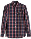 Sunset LEVI'S Retro Mod 1 Pocket Check Shirt (ADB)