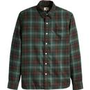 Levi's Men's Retro Mod Sunset 1 Pocket Tartan Check Shirt in Caviar