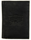 levis trifold tumbled leather wallet black