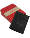 LEVI'S® Retro Trifold Tumbled Leather Wallet BLACK