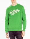 levis mens retro 70s varsity logo sweatshirt green