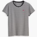 Levi's Womens Retro 60s Mod Black and White Striped Perfect T-Shirt