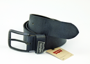 LEVI'S BLACK LEATHER BELT BATWING RETRO BELT