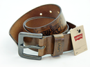 LEVI'S MENS LEATHER BELT STINSON HORSE LOGO BELT