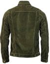 Tejana LOIS Retro 70s Jumbo Cord Jacket OLIVE