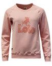 LOIS Women's Retro 70s Flock Print Sweatshirt PINK