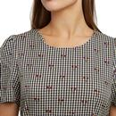 Aimee LOUCHE Retro Cherry Check Midi Dress (Black)