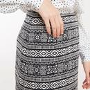 Aubin LOUCHE Jacquard Folk Stripe Mini Skirt B/W