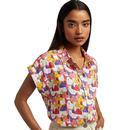 louche abinaya geocats print shirt off white