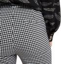 Joele LOUCHE Gingham Check Cropped Slim Trousers